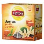 Чай Lipton, черный, в пирамидках, 20 пакетиков, Vanilla Caramel
