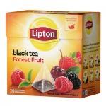Чай Lipton, черный, в пирамидках, 20 пакетиков, Forest Fruit