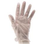 Перчатки виниловые Paclan р.M, белые, одноразовые, 50 пар
