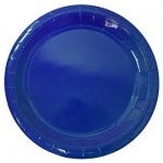 Тарелка одноразовая Horeca синяя, d=23см, 50шт/уп