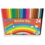 Фломастеры Centropen Rainbow Kids 24 цвета, смываемые