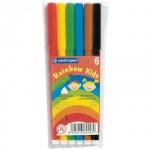 Фломастеры Centropen Rainbow Kids 6 цветов, смываемые