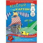 Цветной картон Апплика 6 цветов, А4, 6 листов, двухсторонний, полоски, полоски
