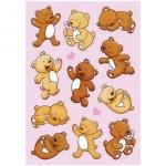 Наклейки декоративные детские Herma Magic Медвежата, 16х9см, объемные