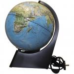 Глобус физико-политический Глобусный Мир 21см, на треугольной подставке, рельефный, с подсветкой
