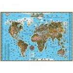 Карта настенная Dmb Мир 116х79см, для детей