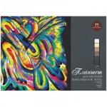 Папка для пастели Palazzo Сладкие грезы А2, 160г/м2, 18 листов, тиснение холст, тонированная, 6 цвет
