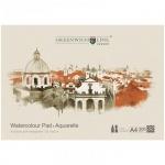 Альбом для акварели Greenwich Line Пейзажи Город, А4, 200 г/м2, 32 листа, на склейке