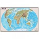 Карта настенная Dmb Мир физическая, М-1:25 000 000, 122х79см, 150 г/кв.м