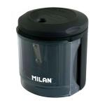 Точилка электрическая Milan Powersharp 1 отверстие, с контейнером, черная