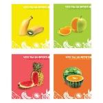 Тетрадь общая Bg Что ты за фрукт, A5, 48 листов, в клетку, на скрепке, мелованный картон