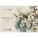 Альбом для акварели Greenwich Line Цветы, А4, 200 г/м2, 32 листа, на склейке