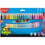 Фломастеры Maped Jungle 24 цвета, смываемые