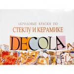 Краска акриловая по стеклу и керамике Невская Палитра Декола 12шт по 20мл