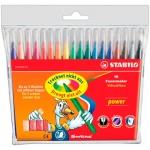 Фломастеры Stabilo Power 18 цветов, смываемые
