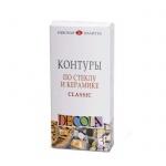 Набор цветных контуров по стеклу и керамике Невская Палитра Декола 4 цвета x 18мл