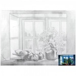Холст грунтованный Невская Палитра, 280 г/м2, хлопок, Натюрморт