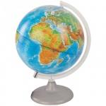 Глобус физико-политический Глобусный Мир 25см, на круглой подставке, с подсветкой