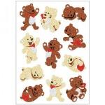 Наклейки декоративные детские Herma Magic Веселые мишки, 16х9см, объемные