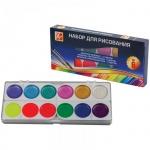 Набор для рисования Луч №6, акварель 12 цветов медовая, 6 цветов флуоресцентная, кисть №3