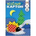 Цветной картон Апплика Веселый 6 цветов, А4, 6 листов, двухсторонний, звёздочки