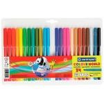 Фломастеры Centropen Colour World, смываемые, 24 цвета