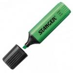 Текстовыделитель Stanger зеленый, 1-5мм, скошенный наконечник