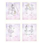 Тетрадь школьная Magic Lines Балеринки, А5, 12 листов, на скрепке, картон, в клетку, клетка