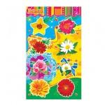 Наклейки декоративные детские Лис Цветы, А5