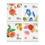 Тетрадь общая Office Space Цветы Plant blooming, А5, 48 листов, в клетку, на скрепке, мелованный картон/ лак