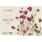 Альбом для рисования Greenwich Line Цветы, А4, 160 г/м2, 32 листа, на склейке