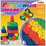 Набор для лепки из песка Lori Радужный песок 4 цвета по 150г