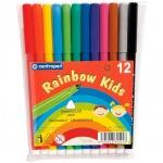 Фломастеры Centropen Rainbow Kids 12 цветов, смываемые