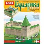 Конструктор деревянный Lori Крепостная башня, из деревянной соломки