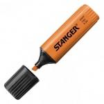 Текстовыделитель Stanger оранжевый, 1-5мм, скошенный наконечник