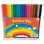 Фломастеры Centropen Rainbow Kids 18 цветов, смываемые