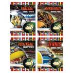 Тетрадь общая Архбум World Sports, A5, 48 листов, в клетку, на скрепке, мелованный картон