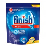 Таблетки для ПММ Finish All in One 65шт, лимон