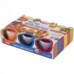 Тесто для лепки Lori Пластишка, 80г, яркие цвета, 6 цветов