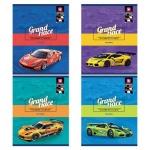 Тетрадь общая Bg Racing, А5, 48 листов, в клетку, на скрепке, мелованный картон