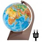 Глобус физический Глобусный Мир 21см, на треугольной подставке, с подстветкой, 10276
