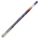 Ручка гелевая Crown Люрекс, 1мм, синяя