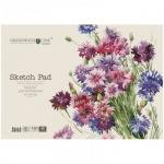 Альбом для рисования Greenwich Line Цветы, А4, 160 г/м2, 40 листов, на склейке