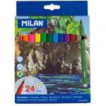 Фломастеры Milan 610 24 цвета, смываемые