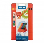 Набор цветных карандашей Milan 231, трехгранные, 12 цветов