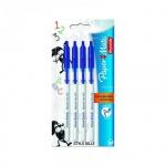 Набор ручек шариковых Paper Mate BP 045 синий, 0.3мм, 4шт