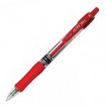 Ручка гелевая автоматическая Crown AJ-5000R красная, 0.7мм