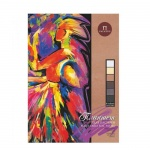 Папка для пастели Palazzo Сладкие грезы А4, 160г/м2, 18 листов, тиснение холст, тонированная, 6 цвет