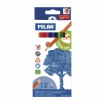 Набор цветных карандашей Milan 231 12 цветов, трехгранные, 728312