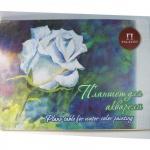 Папка для рисования Palazzo Белая роза А3, 260г/м2, 20 листов, тиснение лен, тонированная, палевая